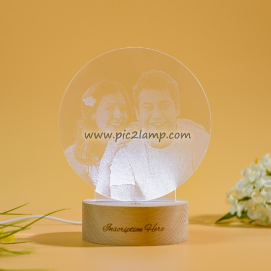 Personalized Photo Night Light Gift - Magic Remote Control 7 Colors