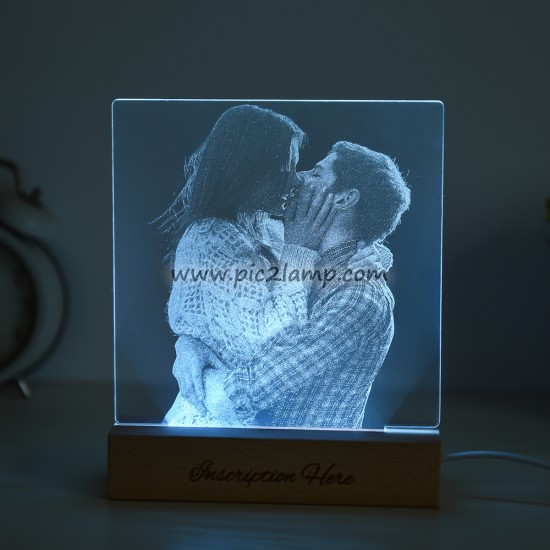 Personalized Photo LED Night Light Gift for Love - -Magic Remote Control 7 Colors