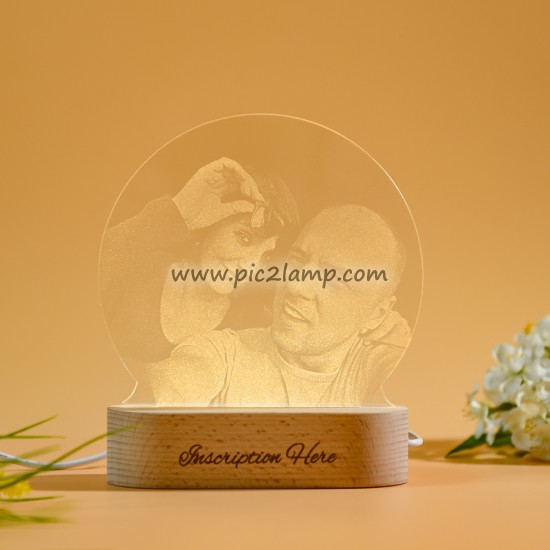 Custom Photo Lamp Gift - Photo Engraved Lamp- 1-7 Colors