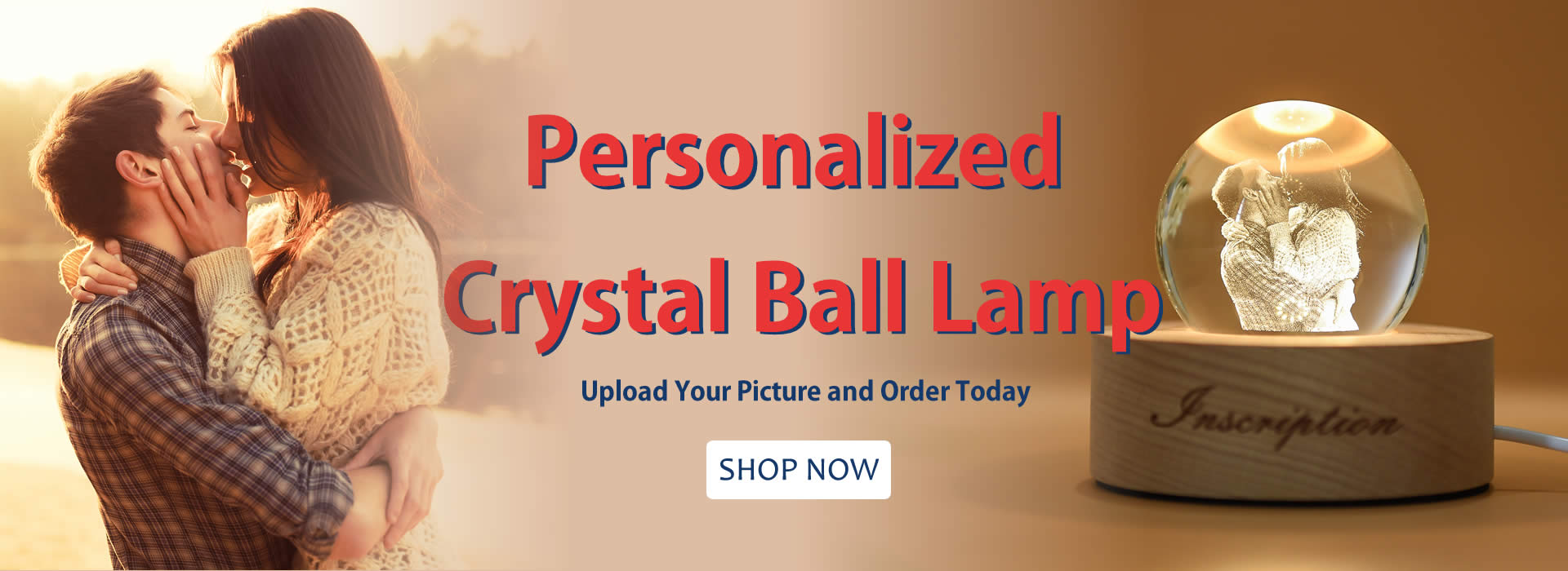 Personalized Crystal Ball Lamp