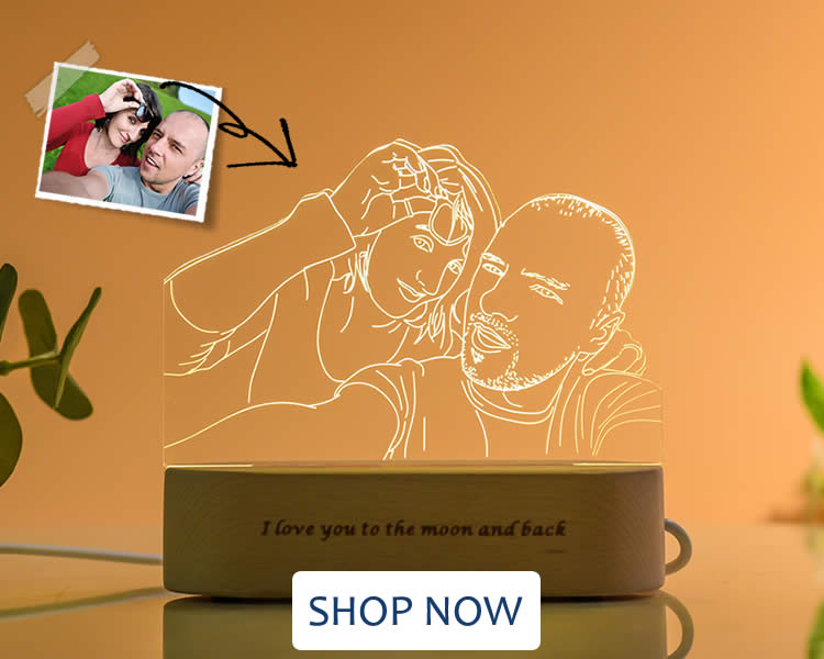 Personalized 3D Photo Lamp