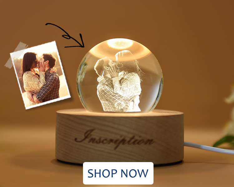 Personalized 3D Crystal Ball Photo Lamp